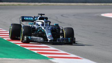Bottas Mercedes W10 testing