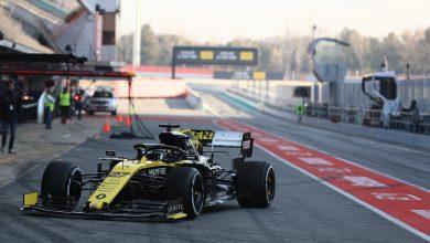 Renault Hulkenberg Test Barcelona Testing
