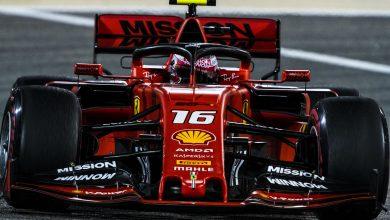 Ferrari Leclerc bahrain fp3