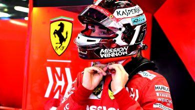 Charles Leclerc Ferrari Azerbaijan Grand Prix Practice