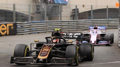 Kevin Magnussen Haas Sergio Perez Racing Point Monaco Grand Prix