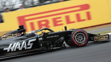 Formula 1 q2 Romain Grosjean Haas tyre British Grand Prix Silverstone tyre