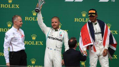 Bottas Mercedes F1 British Grand Prix safety car
