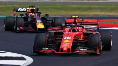 Charles Leclerc Ferrari Formula 1 British Grand Prix Max Verstappen battle