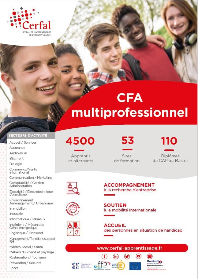 Plaquette Offre de formation du CFA Cerfal