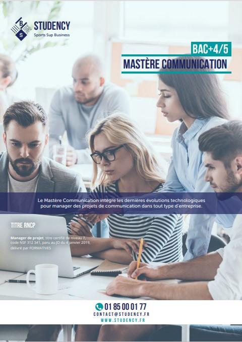 Mastère Communication
