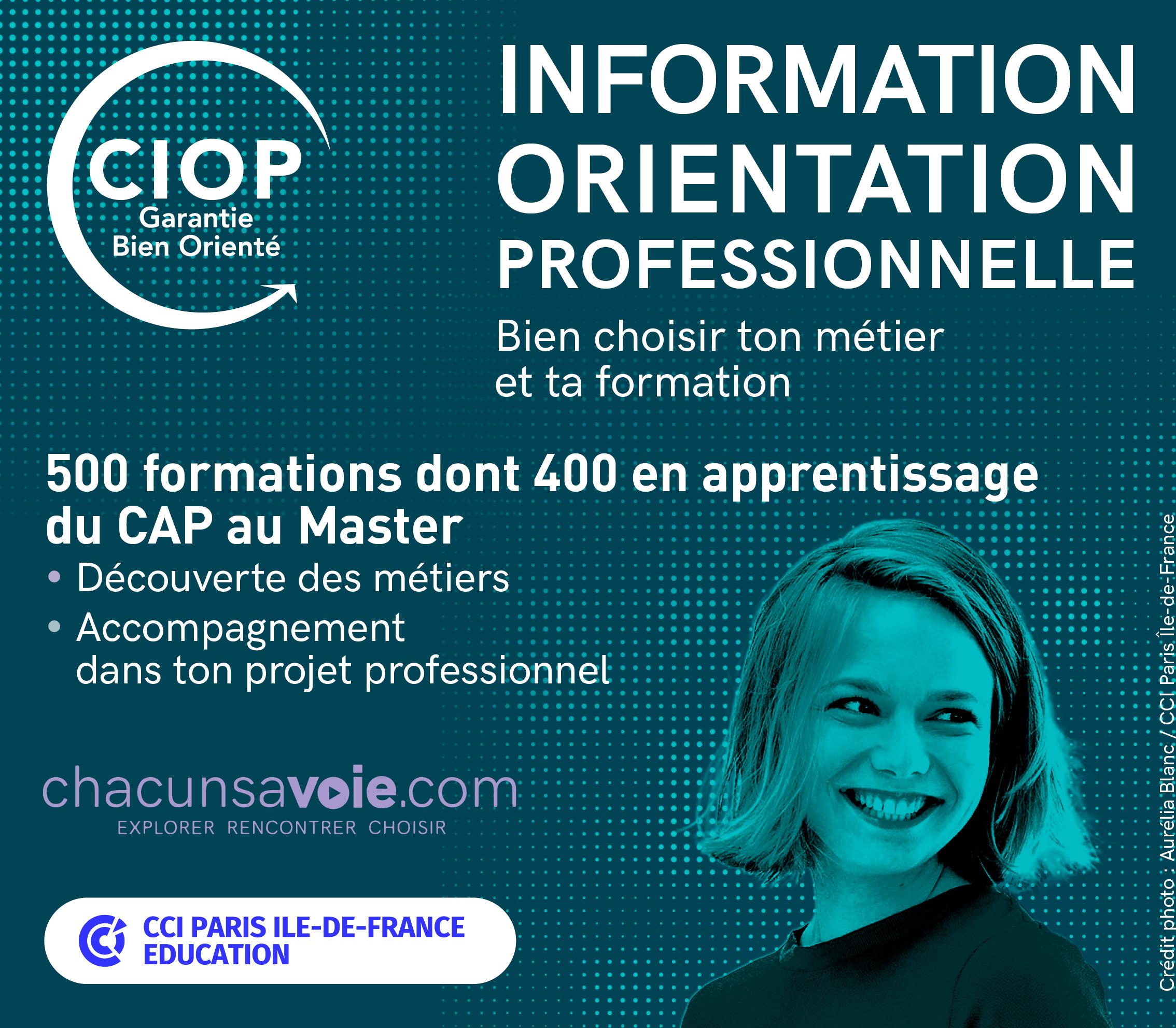 Visitez le stand de CIOP  (Centre d'information et d'orientation professionnelle)