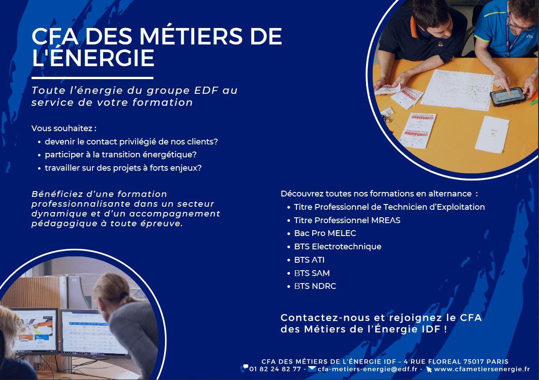 Le CFA des métiers de l'énergie en Ile-de-France