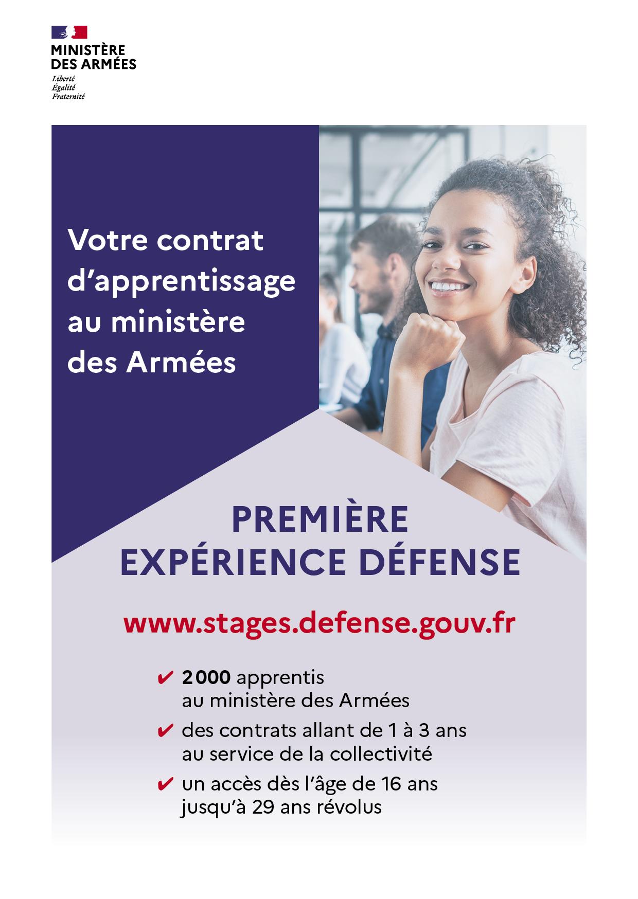Flyer apprentis-ministère des Armées