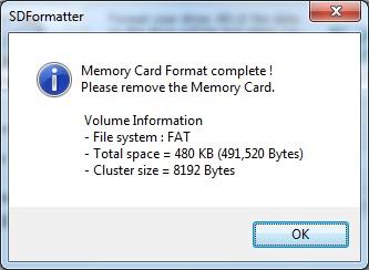 carte micro sd non reconnue Carte SD formatée avec SDCard formatter mais pas reconnue par l