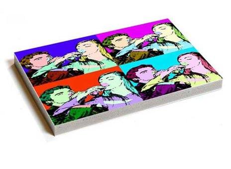 Immagini stampate con effetto Pop Art