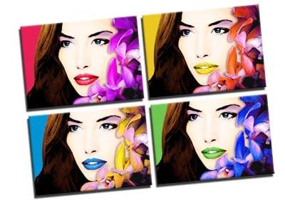 Stampa pop art a pannelli