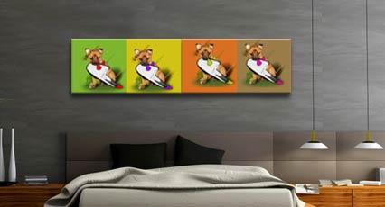 Tela canvas pop art personalizzata con le immagini che preferisci