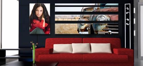 stampa su tela a pannelli personalizzata con foto