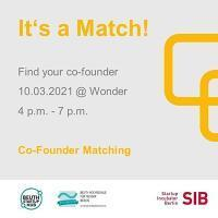 It´s a Match! Co Founder Matching