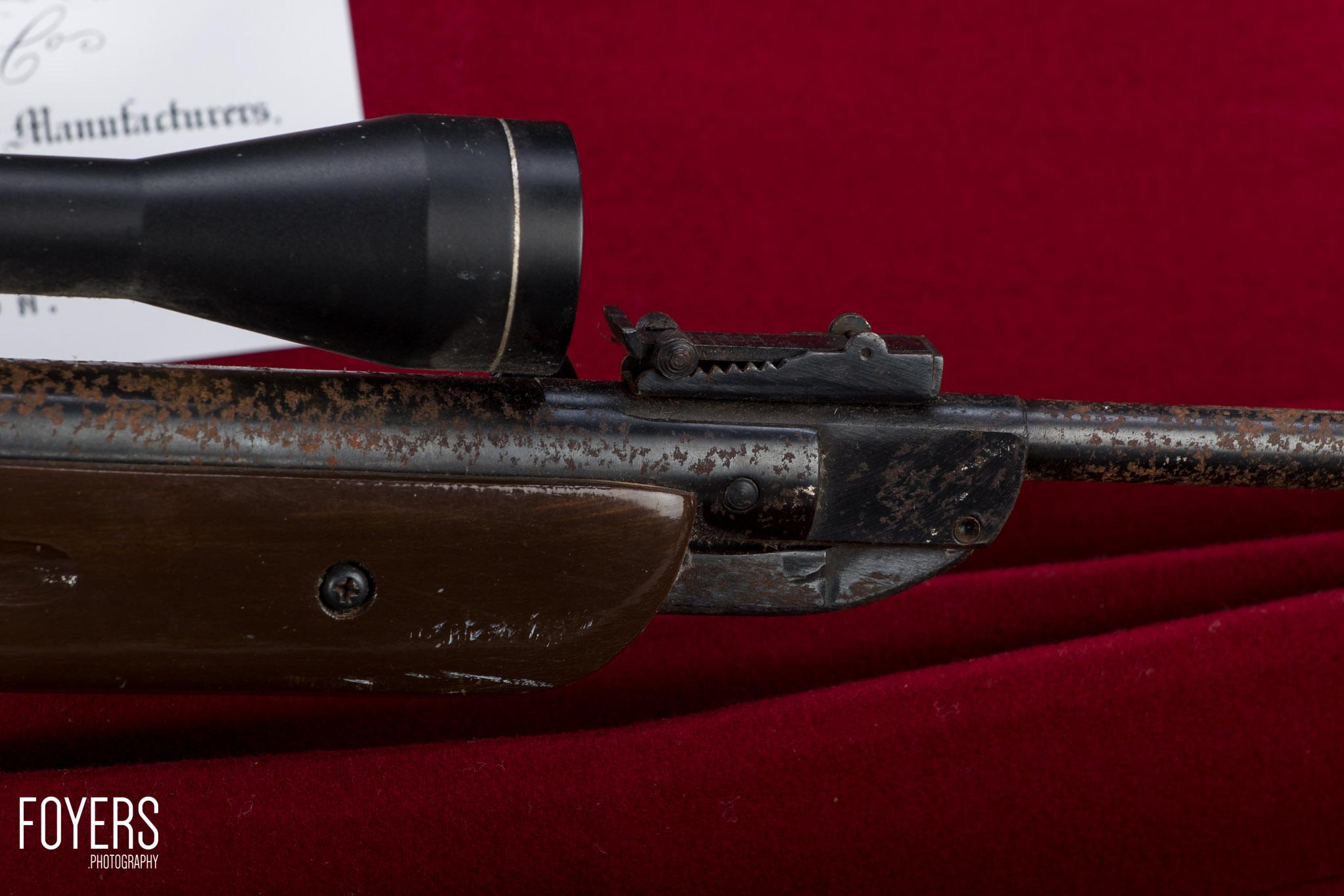 air rifle on gun case-3 - copyright Robert Foyers