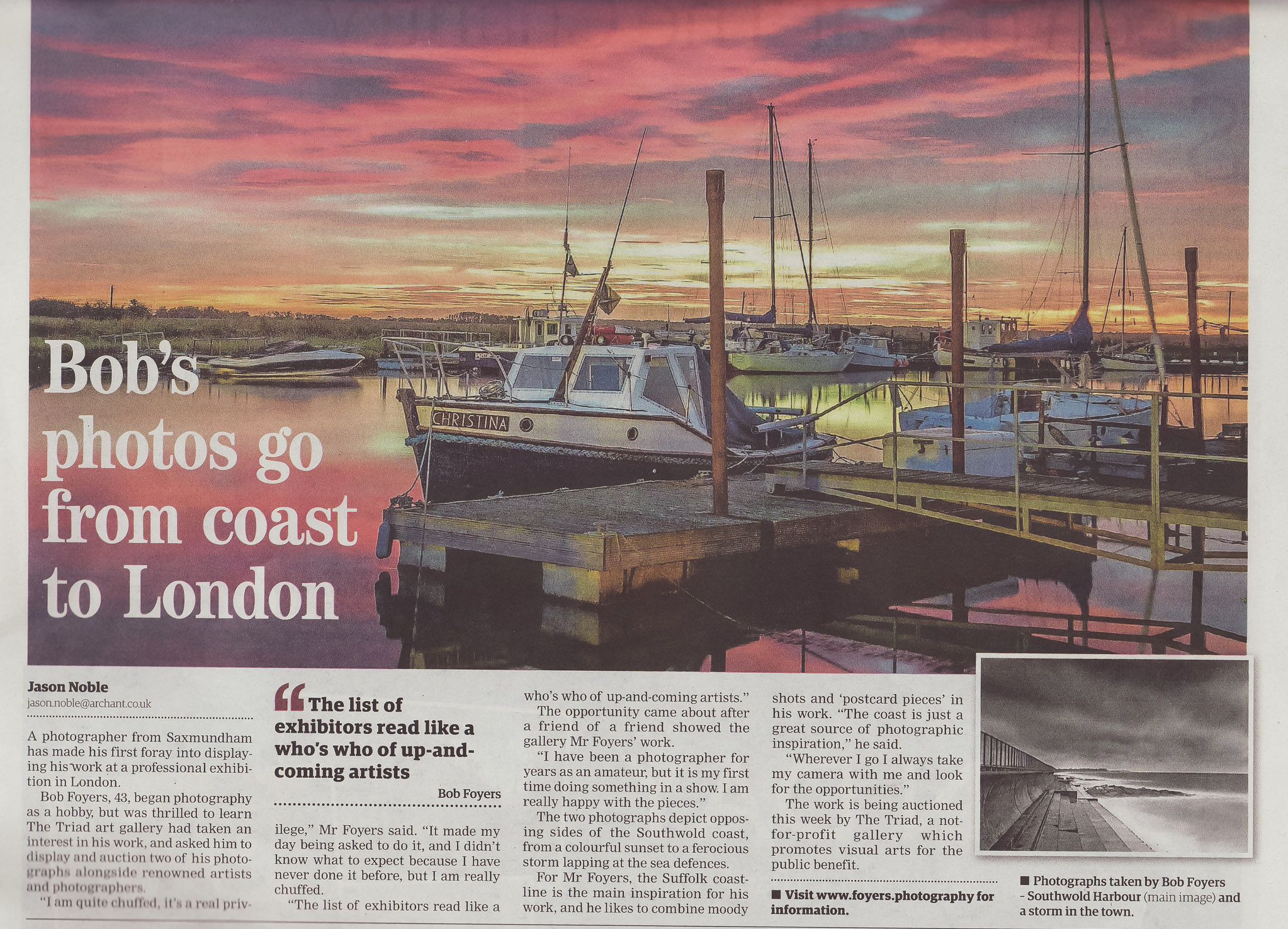 East anglian daily times -1 - copyright Robert Foyers