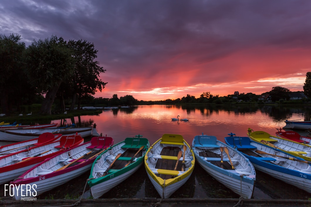 Sunset at Thorpeness Meare-9574-Edit