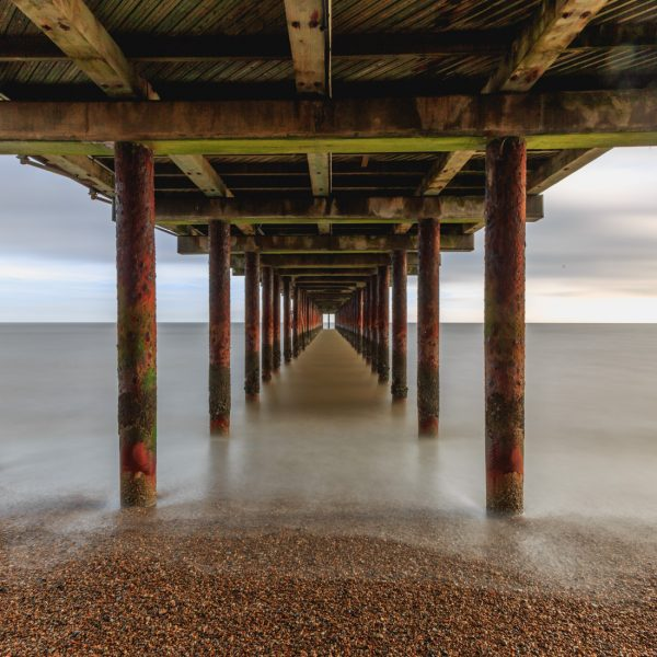 Southwold pier from below- long exposure photography of Southwold
