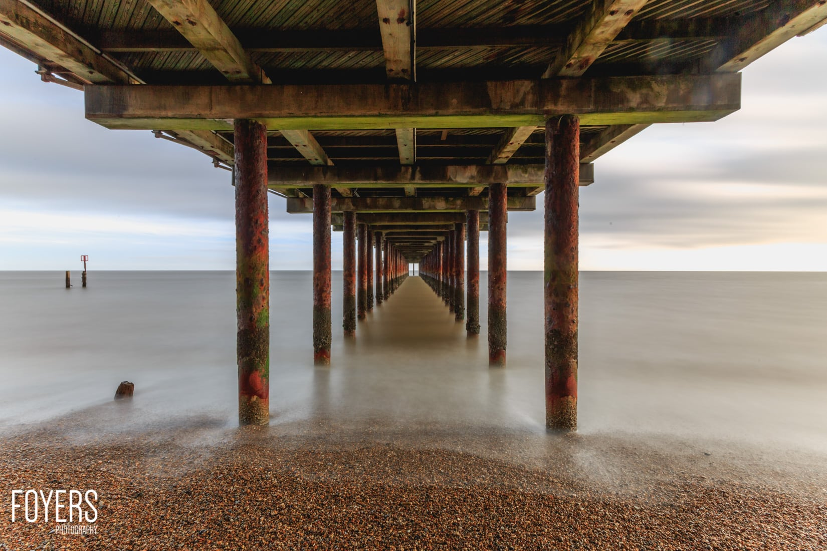 Southwold pier from underneath