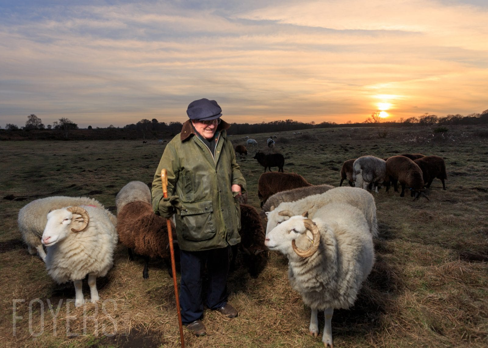 Portrait of a Shepherd on Snape Warren, Suffolk