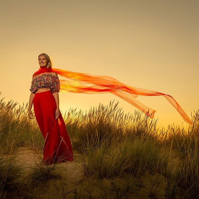 Great photoshoot with Steffi tonight on the beach at Southwold. @steffigrace.b