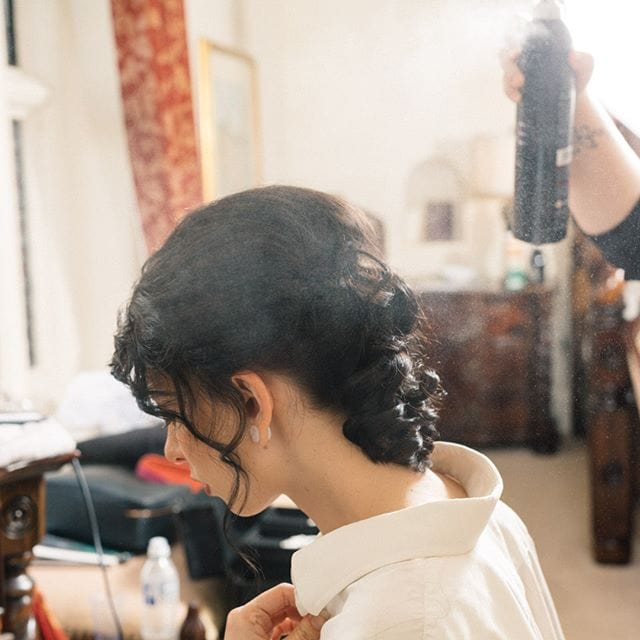 Getting ready for the bridle dress photoshoot at Woodhall Manor with @martin_dobson_couture @innov8hair @faybulous7 @ariess_93 @sophie.george92 7 . . . . .