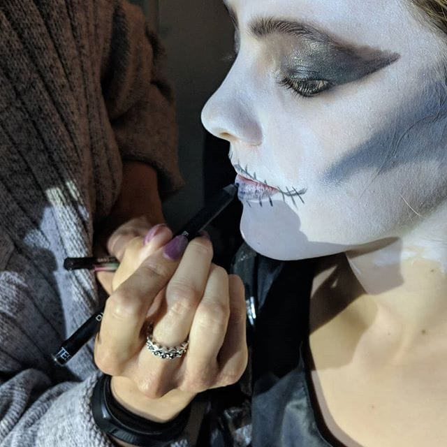 Fantastic evening in the studio, brilliant make-up by Steffi for the Halloween themed photoshoot.
