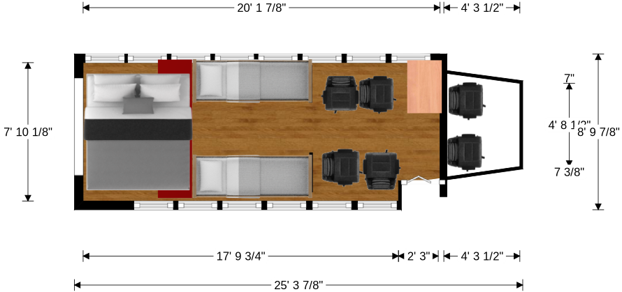 Conversion encyclopedia floor plans page 6 school - School bus table and chair ...