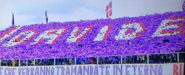 Coreografia Fiorentina per Astori in Fiorentina Benevento