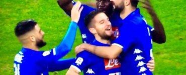 Giocatori Napoli Che Festeggiano In Napoli Spal 2018 19 2