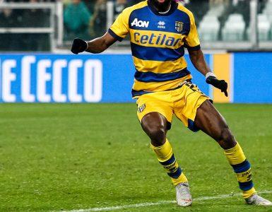 Gara Di Seria A Tra Juventus E Parma Allo Allo Juventus Stadium Di Torino. Gervinho Del Parma In Azione 1