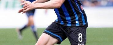 Gara Di Seria A Tra Atalanta E Genoa Al Mapei Stadium Di Reggio Emilia. Robin Gosens In Azione.