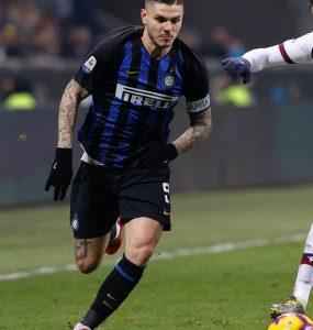 Gara Di Seria A Tra Inter E Bologna Allo Stadio San Siro Di Milano. Mauro Icardi In Azione.