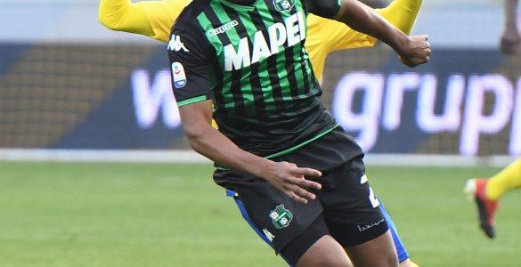 Frosinone Gara Di Serie A Tra Frosinone E Sassuolo Allo Stadio Benito Stirpe. Marlon Del Sassuolo In Azione