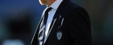 Gara Di Seria A Tra Roma E Cagliari Allo Stadio Olimpico Di Roma. Rolando Maran Allenatore Del Cagliari.