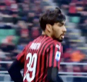 Paqueta in Milan-Verona 2019-2020