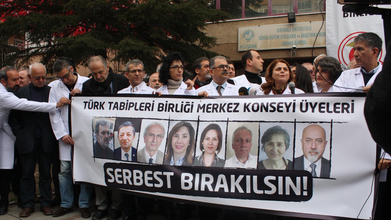 Turkin lääkäriliitto (TTB) pidätetty