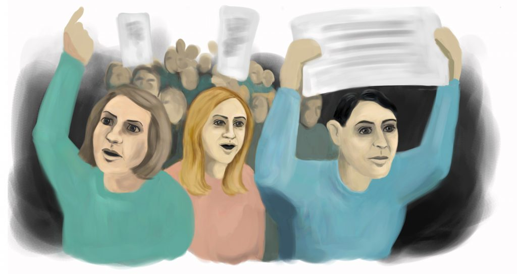 Kuvituskuva mielenosoituksista