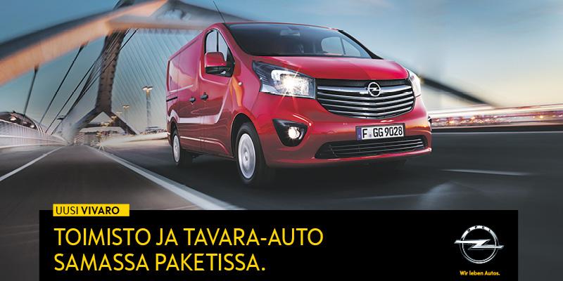 Opel Vivaro ensiesittelyssä
