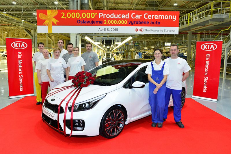 Kian tuotanto Euroopassa ylitti jo 2 miljoonaa autoa