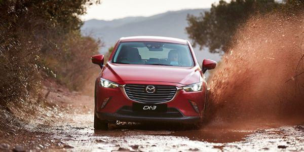 Erä Mazda CX-3 ja CX-5 autoja kesätarjouksessa
