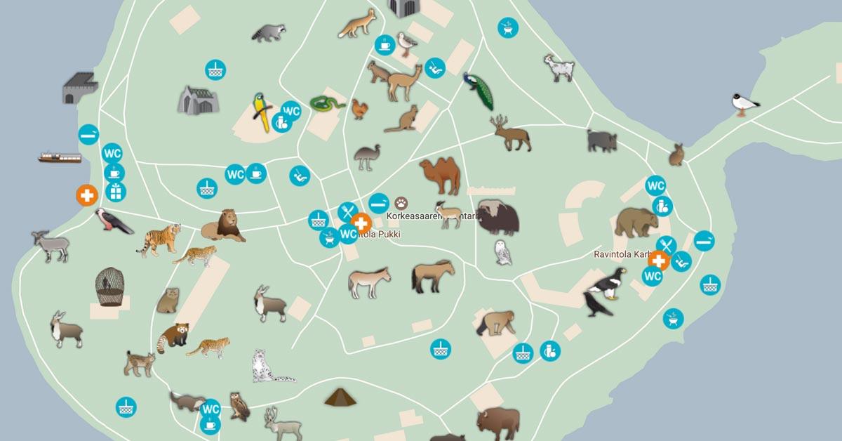 Kartta Korkeasaari