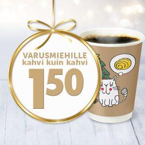 Varusmiehille kahvi 1,50 €