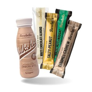 Barebells-proteiinipatukat & milkshake 2 kpl 5 €