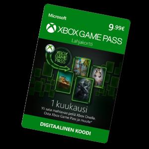 Xbox Game Pass 1 kk 9,99 €