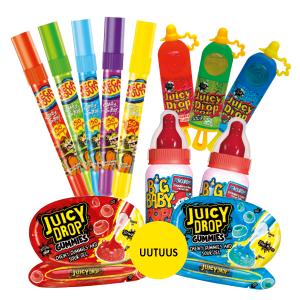Uusi Juicy Drop Gummies 2 kpl 4 €