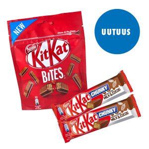 Kitkat Bites ja Chunky nyt Ärrällä!