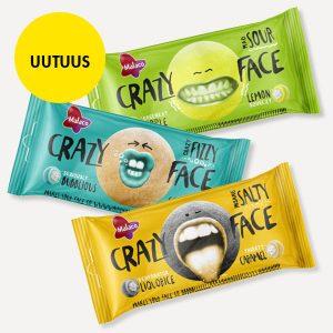Crazy Face -pussit 3 kpl 3 €