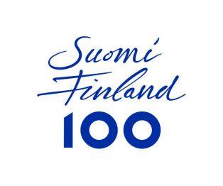 Kuvassa on Suomi100 symboli. Verkkonäyttely on osa Suomi100 vuoden tarjontaa.